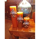 Gold Crown Candle Set
