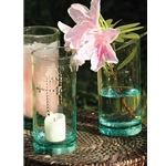 Cross Glass Candle Holder