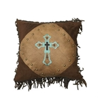 Turquoise Cross Pillow-3814