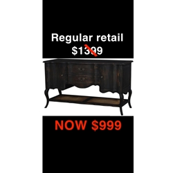 BC-BUFFET TABLE-BLACK BUFFET TABLE