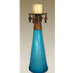 Large Cone Glass Cross Candle Holder