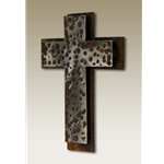 "6""x9"" Hammered Cross on Cross onPatina"