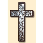 "7""x12"" Hammered Cross on Cross on Patina"